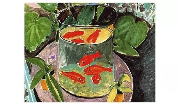 1914 1914年,马蒂斯在法国巴黎的工作室中,画了2张相似的金鱼画作.图片