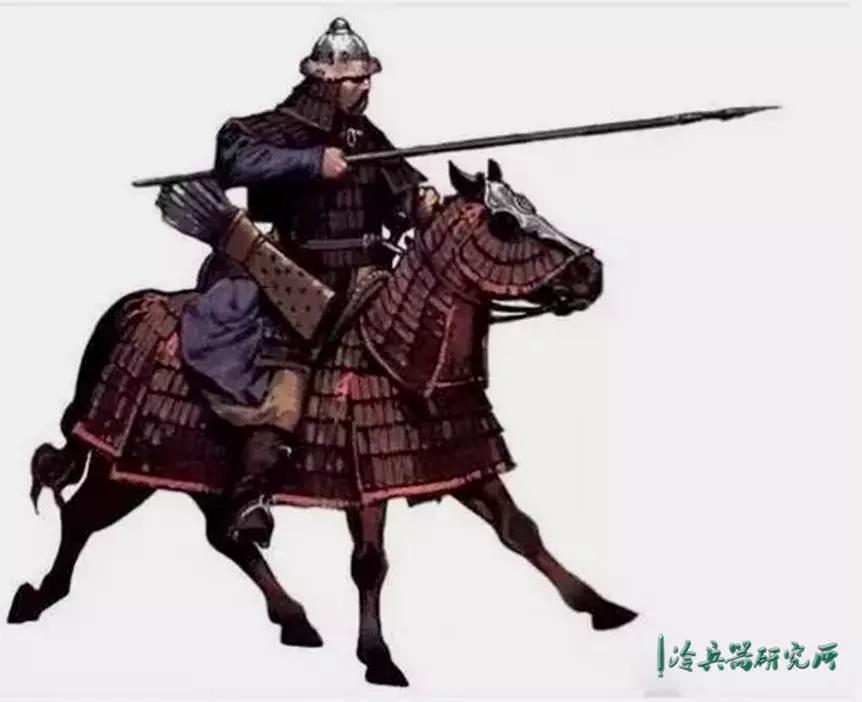 古代马槊实物,外观比步兵长矛还长,还锋锐,更适合冲刺破甲 马槊