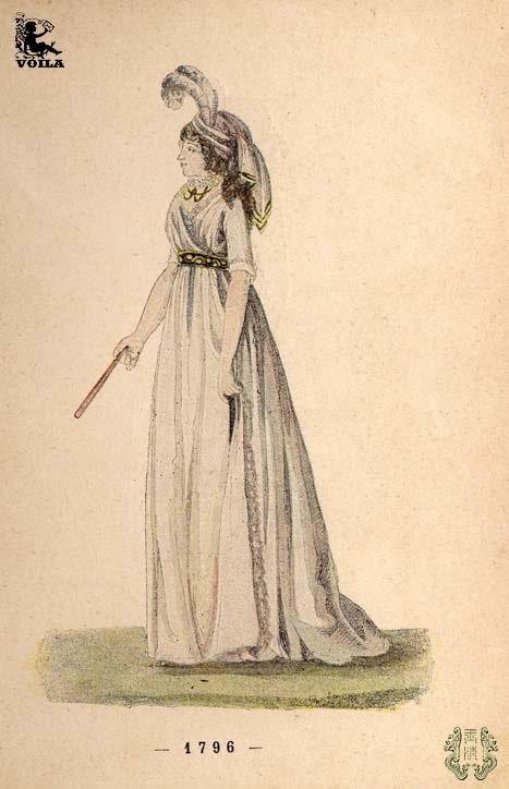 受到拿破仑个人喜好的影响,新古典主义风格的服饰极为接近古罗马和古图片