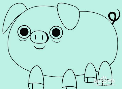 如何画猪,画卡通猪教程图片