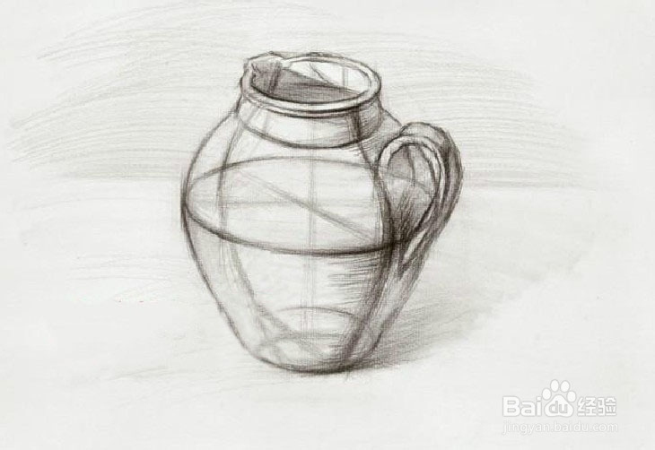 陶罐的结构素描与明暗素描画法(图文)图片