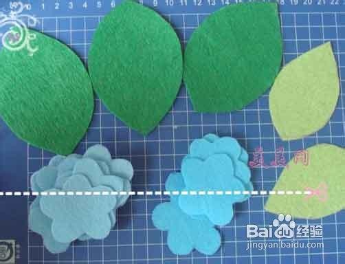 手工不织布花朵制作步骤图片