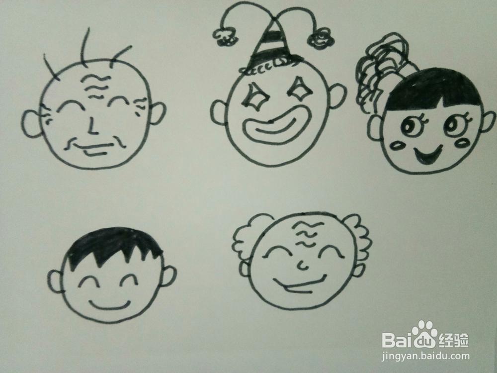 还可以将圆形宝宝,再加一个圆形,你会发现,由俩个圆形宝宝组成添画,它图片