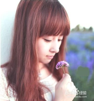 甜美齐刘海卷发图片