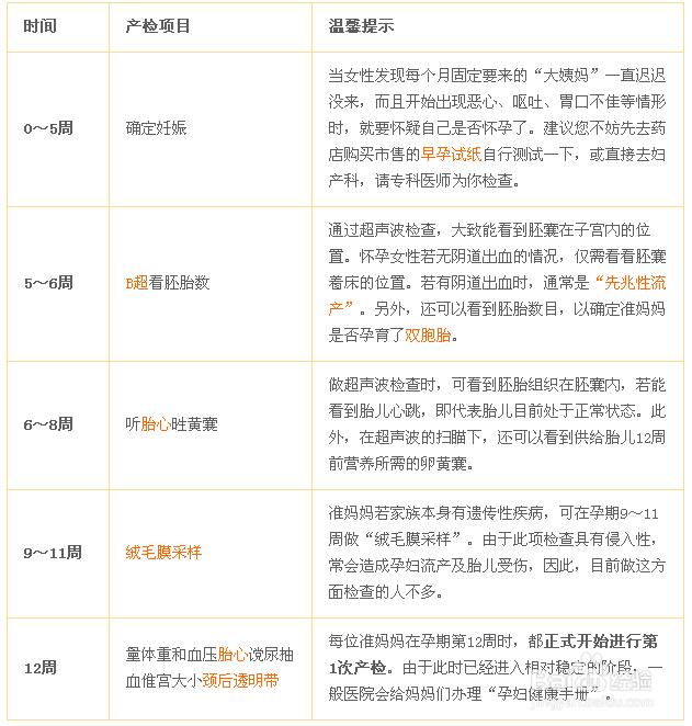 wp8.1推送时间表_孕期检查时间表