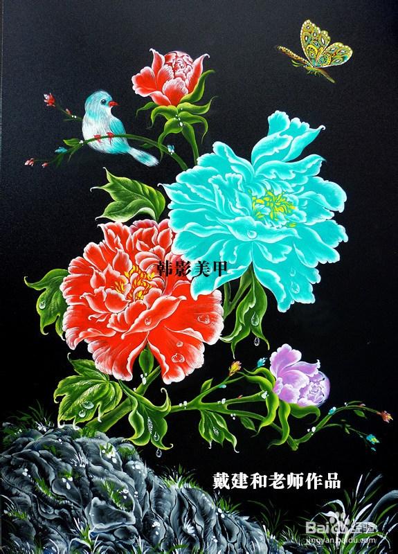 如何学美甲1:3d排笔画出第一片花瓣图片