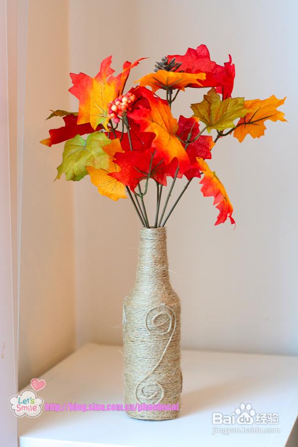 diy麻繩花瓶與吊瓶(親子手工教程)圖片