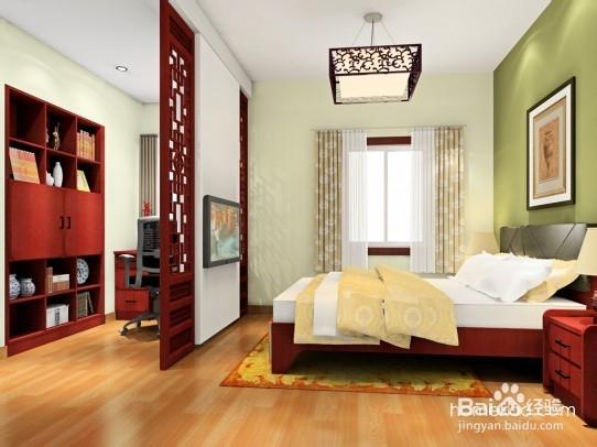 生活/家居 家具装修 > 家具  当卧室的尺寸较为狭长时,可以将办公区域