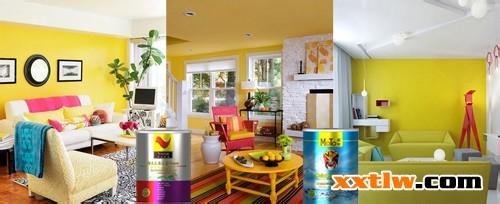 室内墙面涂料施工_很多时候,合适的墙面涂料配色,很大程度上会决定室内的基本风格和节奏