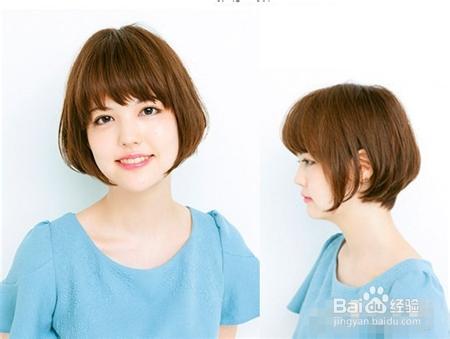 女生时尚短发波波头发型图片