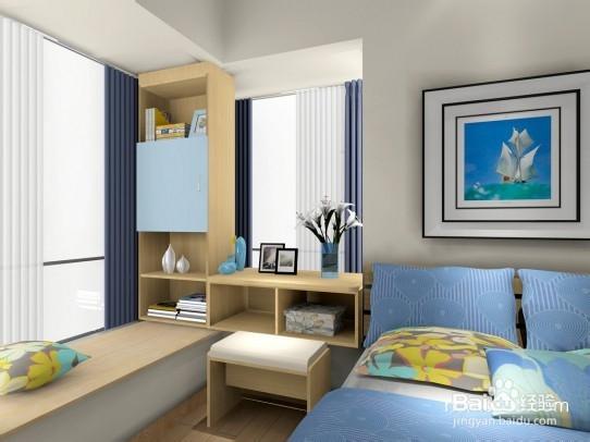 拐角飘窗的卧室要设计装修效果图推挤图片