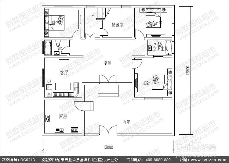 分享农村实用二层带内院自建房屋设计图图片