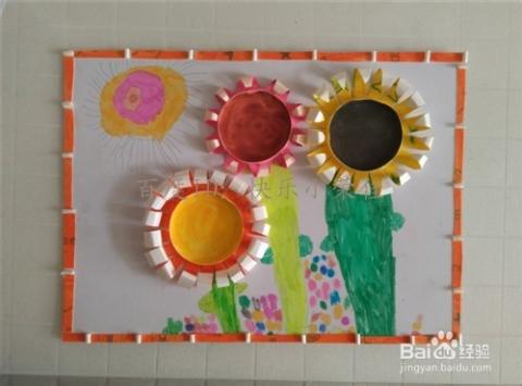 幼儿手工:制作纸杯装饰画