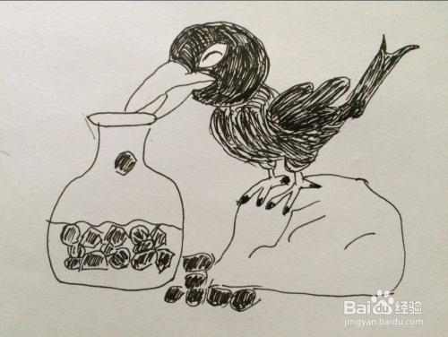 com 通过讲述乌鸦喝水的寓言故事,告诉我们,当遇到困难的时候,要开动图片