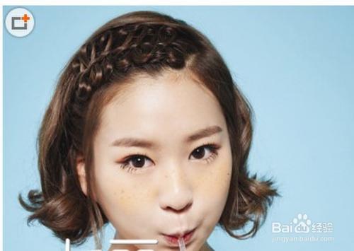短发怎么扎好看 教你一款蝴蝶结刘海编发图片