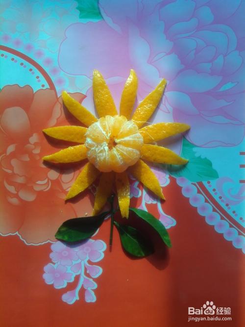 小手工橘子花图片