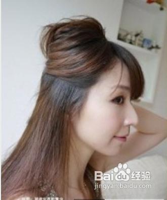 三款淑女发型扎法图解图片