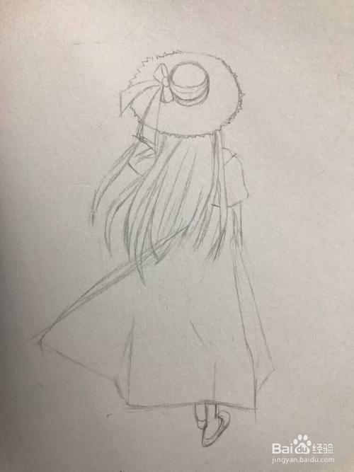 的歌_如何画少女小女孩背影