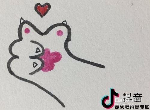 抖音升级版全屏都是爱心的猫爪爱心教程图片