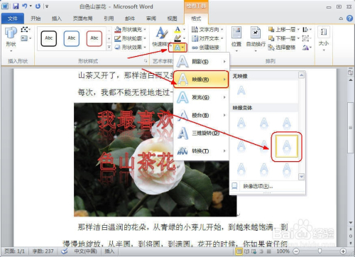 如何在word文档中给插入的图片上添加文字说明