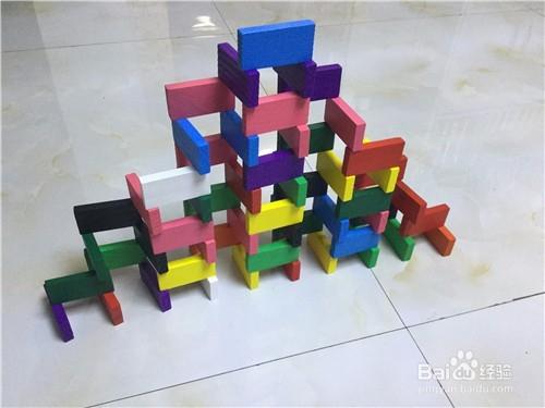 多米诺骨牌摆放技巧--长方形墙图片