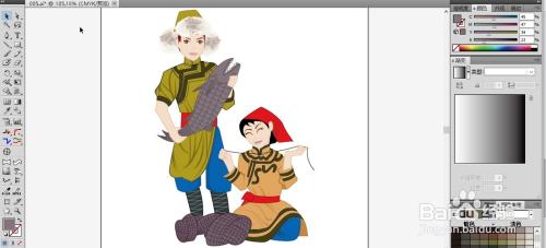 赫哲族服饰图片设计图片