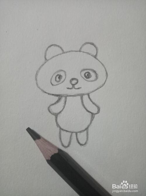 简笔画:可爱的小熊猫图片