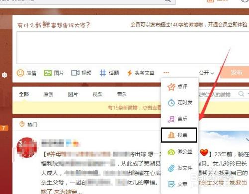 个人新浪微博_在新浪微博上发头条文章与发布投票流程