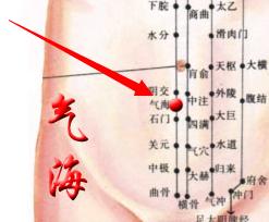 孕妇耻骨位置图_直线连结肚脐与耻骨上方,将其分为十等分,从肚脐3/10的位置,即为此穴.