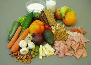 红绿蔬菜,薯类,豆类,水果等含有维生素,蛋白质和纤维素的食物,对眼睛