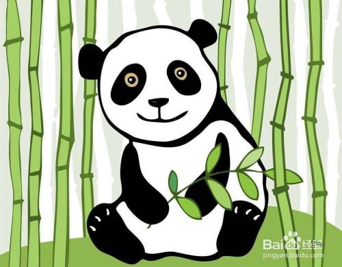 如何画一只熊猫图片