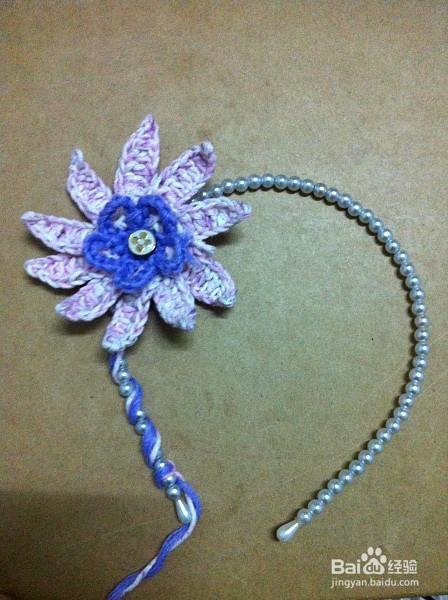 钩织编织美丽的花朵发箍头饰发饰