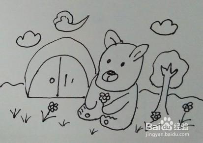 儿童简笔画:教你怎么画小熊图片