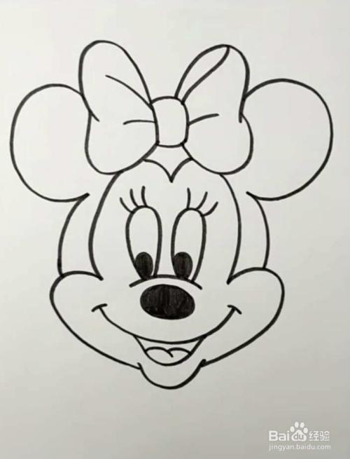 简笔画米妮怎么画图片