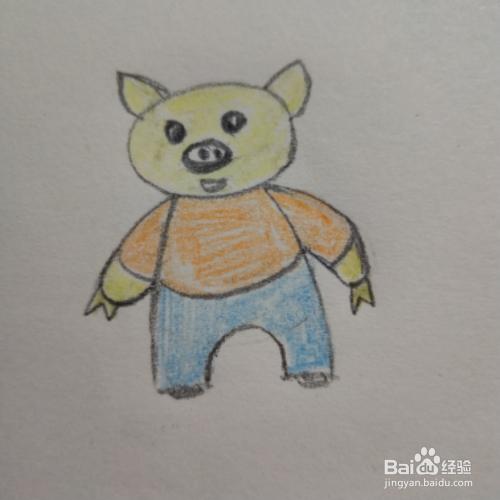 猪年小猪宝贝简笔画图片