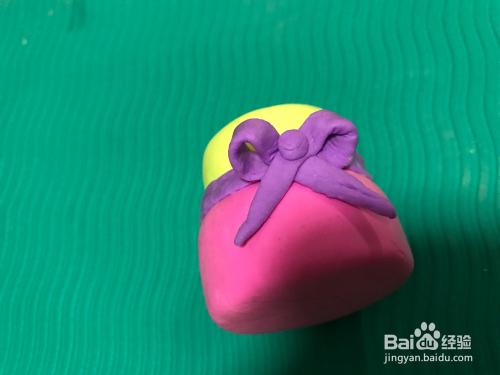 超轻水粉生日蛋糕教程粘土教程涂色图片