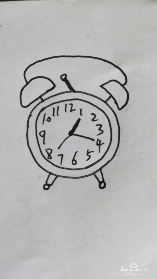 怎么画闹钟的简笔画,闹钟简笔画