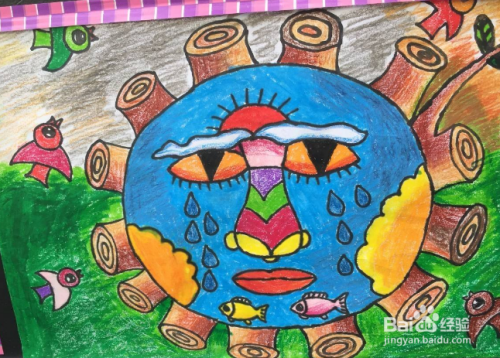 保护环境的儿童画怎么画?图片