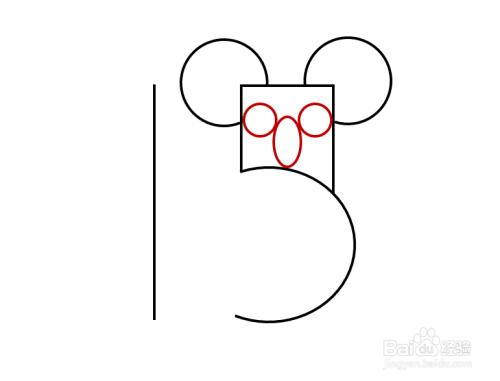 简笔画---从数字15画树袋熊图片