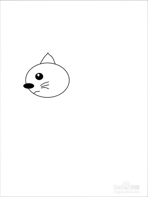 大耳朵图图中猫咪小怪的简笔画方法