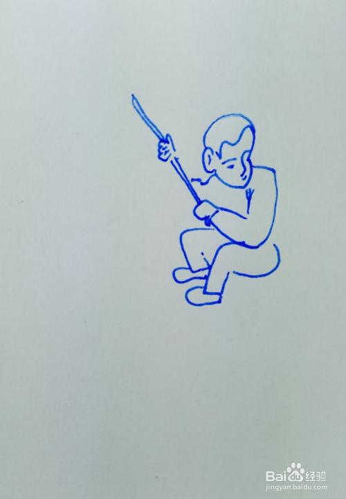 怎样画儿童简笔画小孩与大人进行拔河比赛?