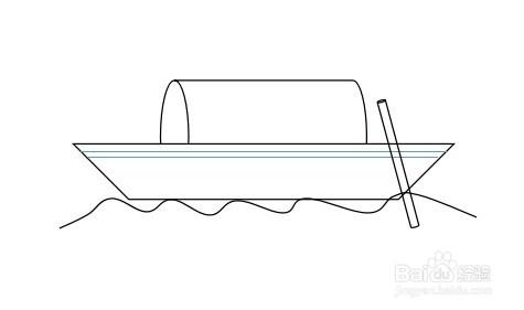 怎么画乌篷船的简笔画图片
