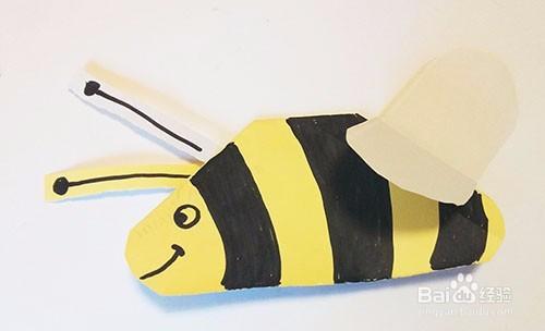 儿童折纸彩笔画——可爱卡通小蜜蜂的折叠方法