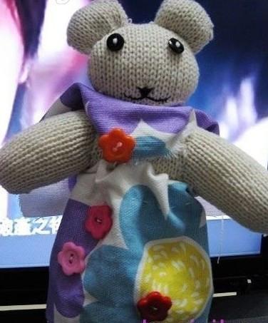 教你自己动手做可爱的手套熊
