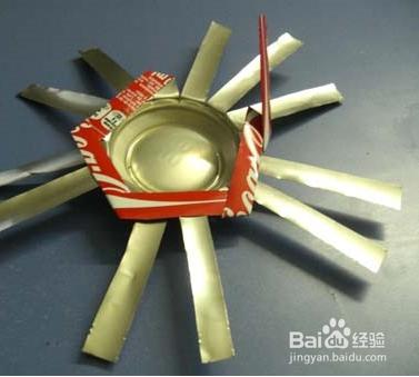 采用易拉罐制作简易烟灰缸的手工diy方法图片