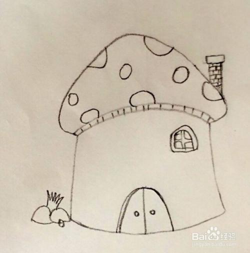 蘑菇房子画法图片