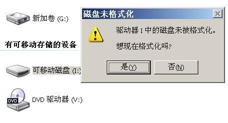 u盘提示未被格式化怎么办?