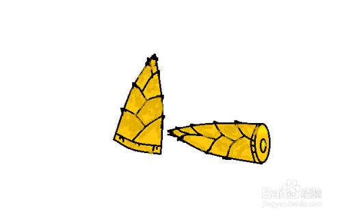 竹笋简笔画画法