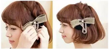 短发发型扎法步骤图片