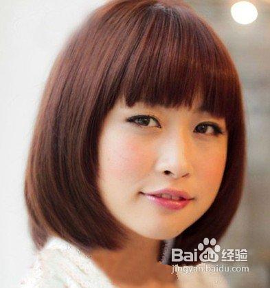 圆脸女生适合什么样的短发?图片